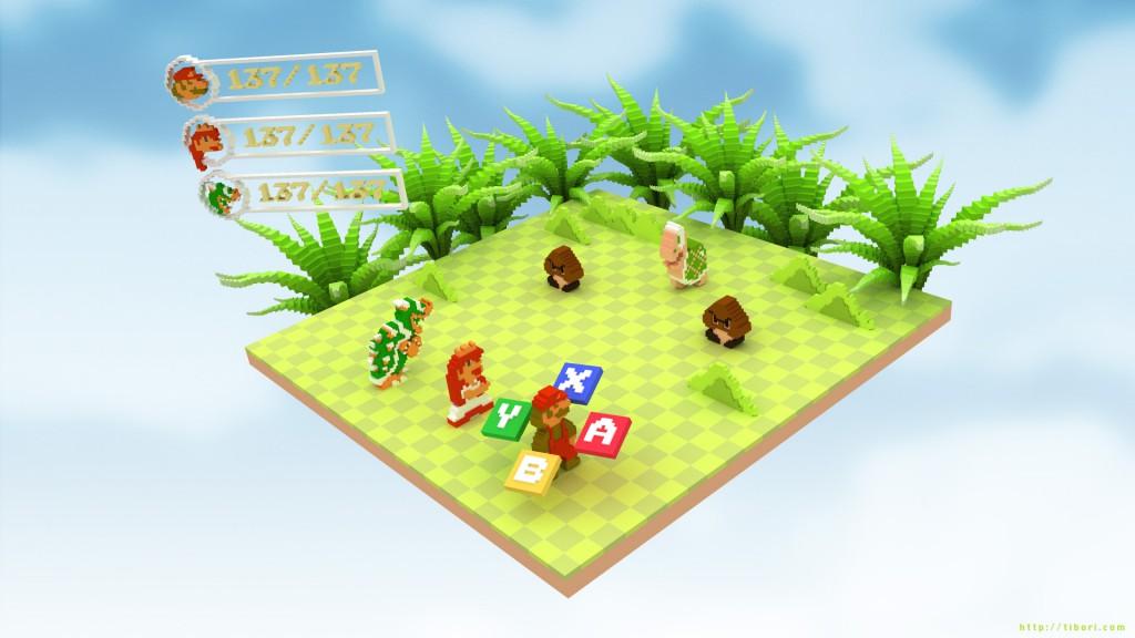 スーパーマリオRPG ドット絵3DCG