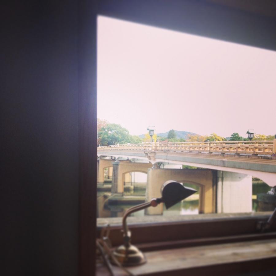 窓から見える後楽園