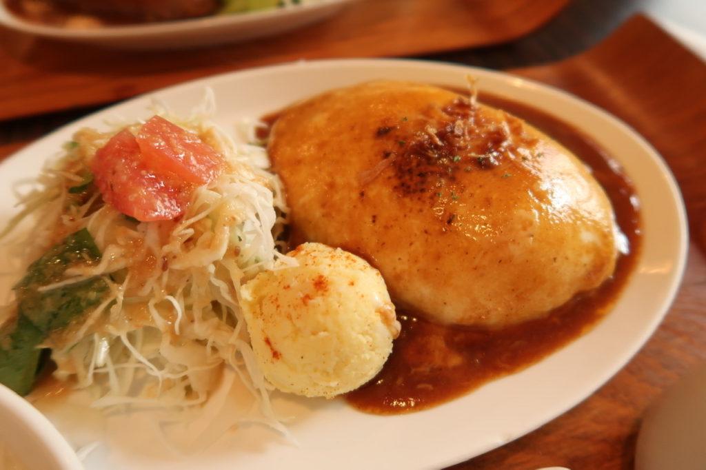 モッツァレラのチーズハンバーグ