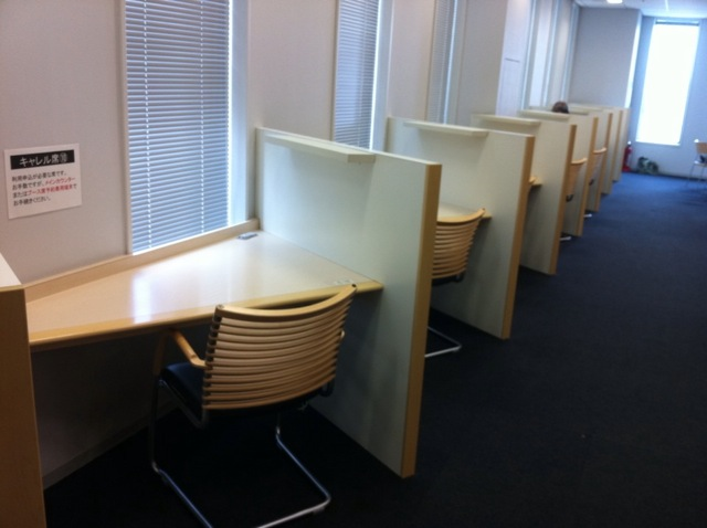 千代田図書館キャレル席 写真
